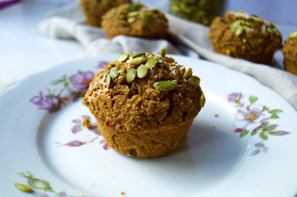 Pumpkin & Turmeric Quinoa  Muffins {Vegan + GF}