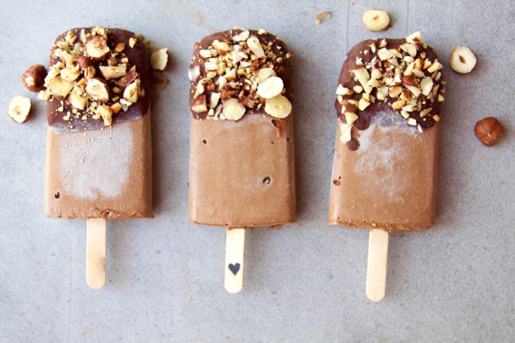 Chocolate Fudgesicles + Choc Hazelnut Crunch
