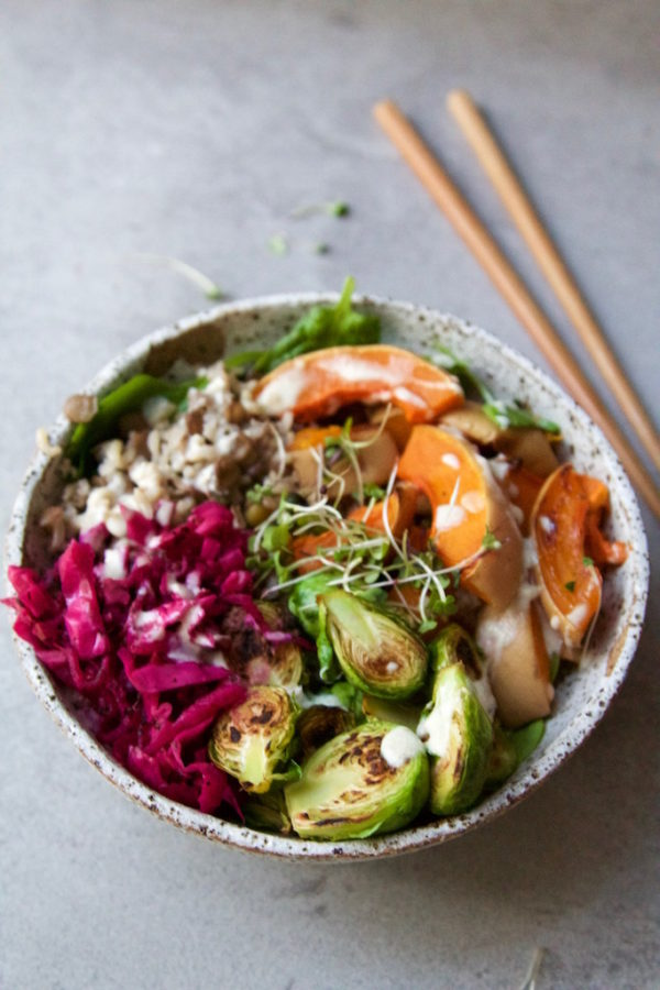 Autumn Rice & Lentil Nourish Bowl