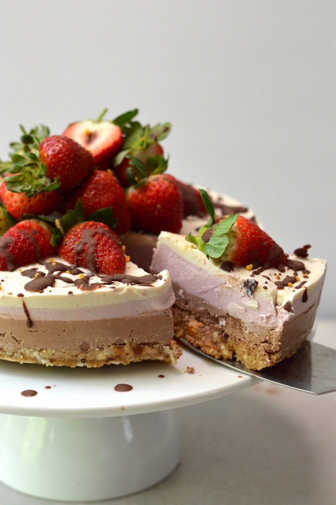Vegan Neapolitan Dream Cake